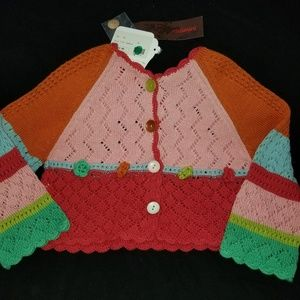 NWT CATIMINI Multi Color French Cardigan Sweater